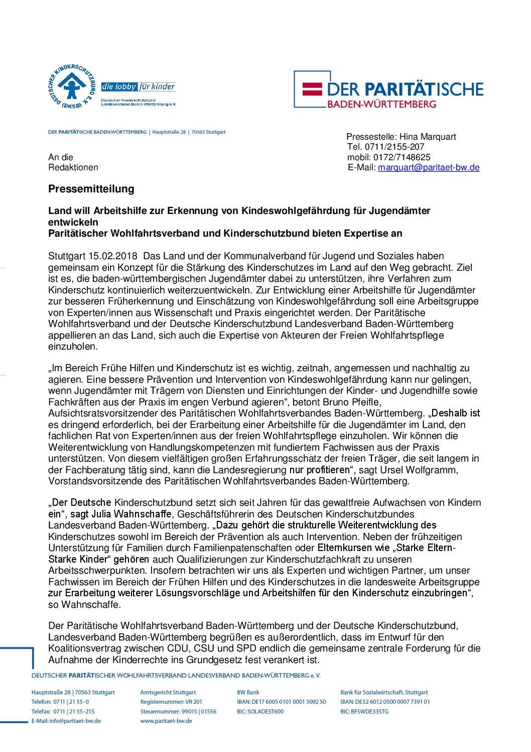 Deutscher Kinderschutzbund Landesverband Baden-Württemberg e.V. on